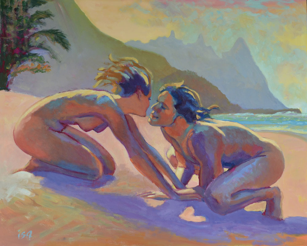 Ljubav na platnu - Page 3 Isa-couple-on-beach