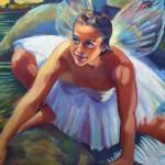 """Makaleha Fairy CrossingOil 20"""" x 24""""Original isa Maria$1800"""