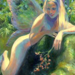 "Kokee Fairy with BerriesOil 24"" x 18""Original isa Maria$1990"