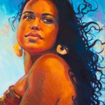 "Kauai RisingOil 16"" x 20""Original isa Maria$2400"