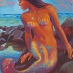 "Wailana MermaidOil 36"" x 24""Original isa Maria$2900"